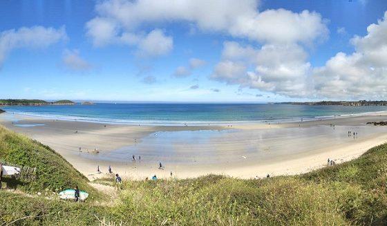 plage idéale pour le longe-côte - Les Blancs Sablons - Finistère