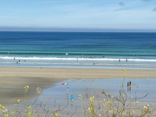 vagues aux Blancs Sablons - un bonheur pour les aquamarcheurs